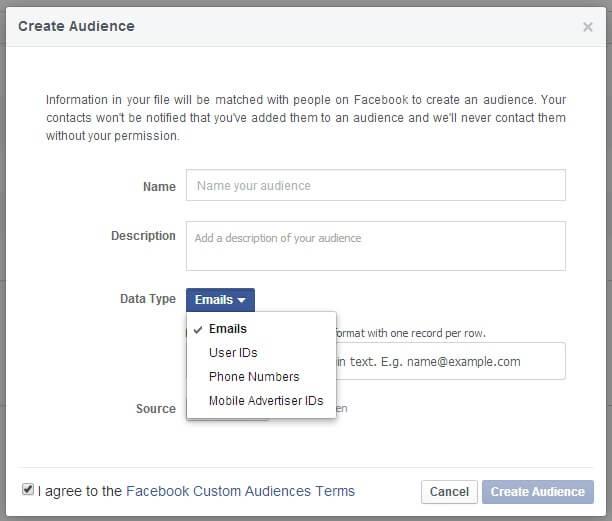自訂受眾facebook.com名單回不去了